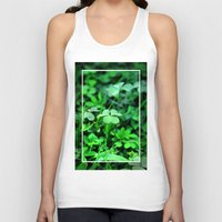 clover Tank Tops featuring Clover Stay by Julie Maxwell