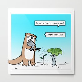 Special otter Metal Print