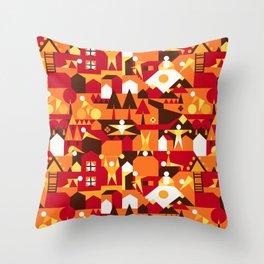 Indoors & outdoors (summer) Throw Pillow