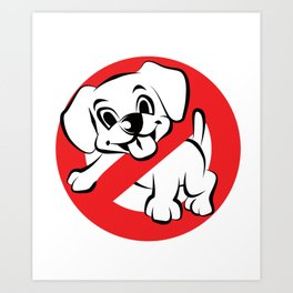 Dog Busters Funny Ghost Novelty Gift Design Art Print