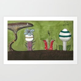 Flowers in the ground Art Print