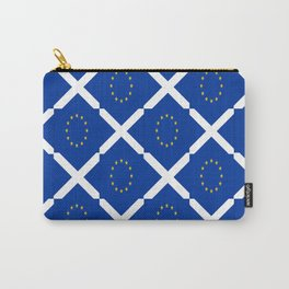 Mix of flag: UE and scotland Carry-All Pouch
