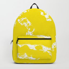 Yellow Abstract Backpack