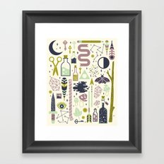 The Witch's Collection Framed Art Print