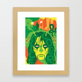 THE ROOTS OF HORROR ROCK :: ALICE COOPER Framed Art Print