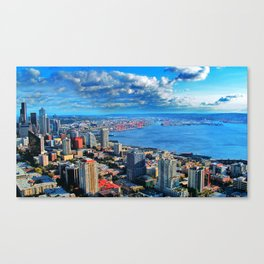 Seattle Skyline from The Space Needle Canvas Print