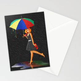 My life is colorful Stationery Cards