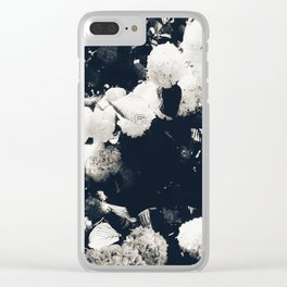 High Contrast Black and White Snowballs II Clear iPhone Case
