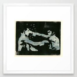 spoiling for a fight Framed Art Print