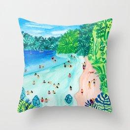 Glassy Island Throw Pillow