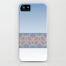 Leafy lavender Nouveau stripe iPhone Case