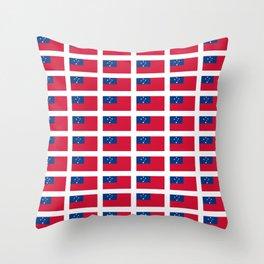 Flag of Samoa-Samoa,samoan,Tala,Savai'i,Upolu,Apia Throw Pillow
