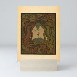 der kuss. 1898 Affiche Mini Art Print