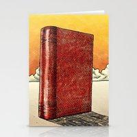 literature Stationery Cards featuring Literature Heavy book by gunberk