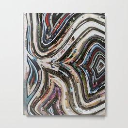 Marble Wisdom Love Veins 1 Metal Print