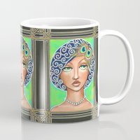 the great gatsby Mugs featuring Great Gatsby by Jaymee Laws