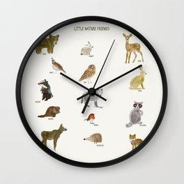 little nature friends Wall Clock