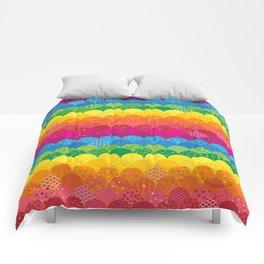 Waves of Rainbows Comforters
