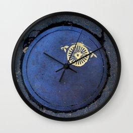 golden eye Wall Clock