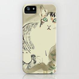 A cute kitten named Kiwi iPhone Case