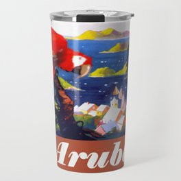 Fly to the Caribbean - Aruba Travel Mug
