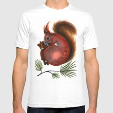 TinTin The Red Squirrel Mens Fitted Tee White MEDIUM