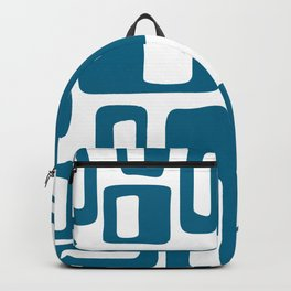 Retro Mid Century Modern Abstract Pattern 336 Peacock Blue Backpack