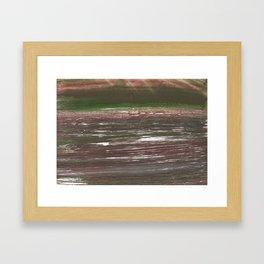 Dark liver abstract watercolor Framed Art Print