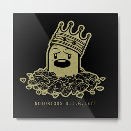 PokéRappers: Notorious D.I.G.lett Metal Print