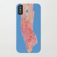 manhattan iPhone & iPod Cases featuring Manhattan  by Marta Olga Klara