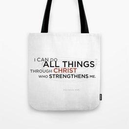 Philippians 4:13 II Tote Bag