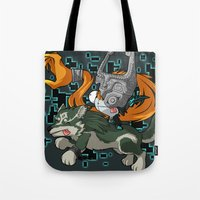 invader zim Tote Bags featuring Invader Midna by HelloTwinsies