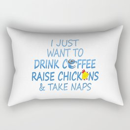 Coffee, Chickens And Naps Rectangular Pillow