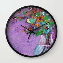 Flower Arrangement in Vase #1 Wall Clock