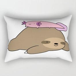Sloth and Axolotl Rectangular Pillow