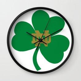 The Irish Clover in Green Wall Clock