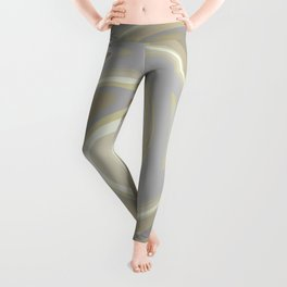 Distorted stripes in colour 3 Leggings