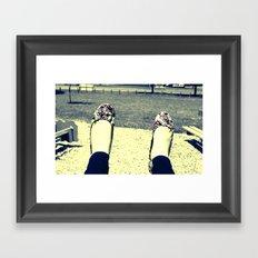 Play Shoes Framed Art Print