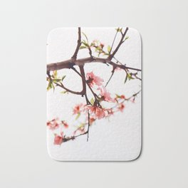 Peach Cherry Bloom Bath Mat