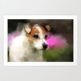 Margo in Forest Hill Garden Art Print