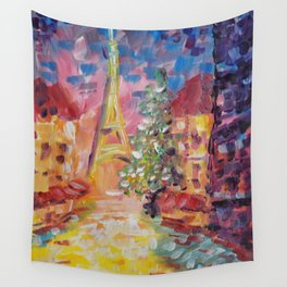 Staying In Paris Wall Tapestry