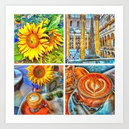 Afternoon Collage Art Print