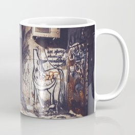 Lower East Side - Midnight Warmth on a Snowy Night Coffee Mug