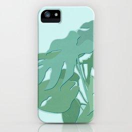 Minimal Monstera Leaves - Greener Eden iPhone Case