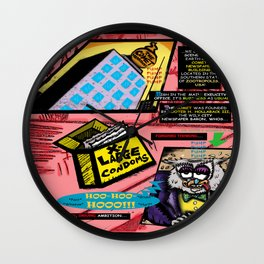 Bird of Steel Comix - Page #3 of 8 (Society 6 POP-ART COLLECTION SERIES)  Wall Clock