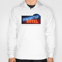 winchester Hoodies featuring Winchester Hotel by quickreaver