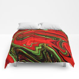 Wormhole Red Comforters