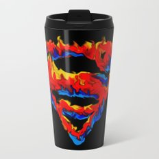 Superman in Flames Travel Mug