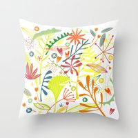 tropical Throw Pillows featuring Tropical by Nic Squirrell