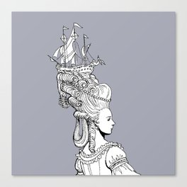 Girl With Ship Canvas Print